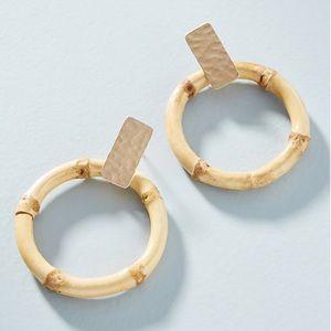 NWT Anthropologie bamboo earrings